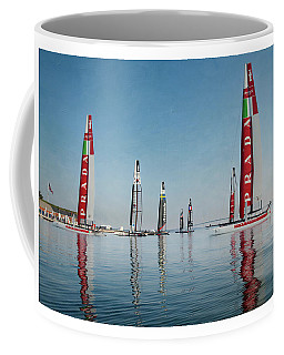 America Cup Boat Reflections Coffee Mug