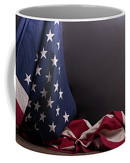 American Flag Draped On Itself Coffee Mug