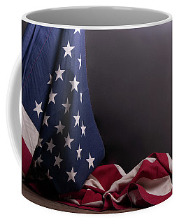 American Flag Draped On Itself Coffee Mug
