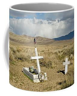 American Flag Grave Coffee Mug