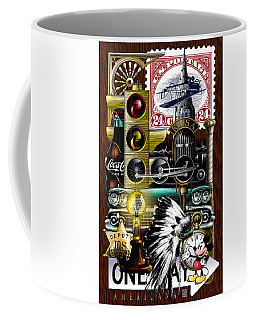 Coffee Mug featuring the drawing Americana by Clint Hansen