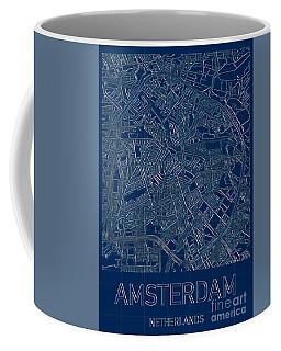 Amsterdam Blueprint City Map Coffee Mug