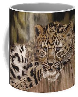 Amur Leopard Cub Coffee Mug
