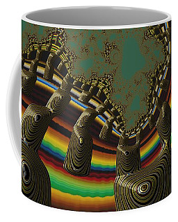 Coffee Mug featuring the digital art Ancient Civilizations Fractal Abstract by Shelli Fitzpatrick