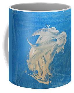 Angel And Dolphin Riding The Waves Coffee Mug