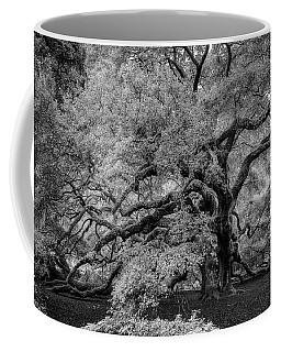 Coffee Mug featuring the photograph Angel Oak Tree Black And White by Rick Berk