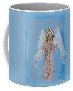 Angel With A Crown Of Daisies Coffee Mug