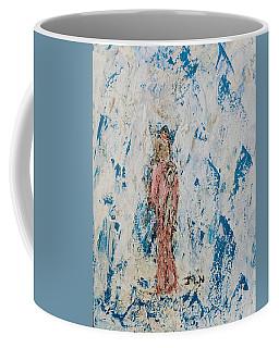 Angel With Her Pet Goat Coffee Mug