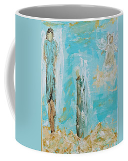 Angels Appear On Golden Clouds Coffee Mug