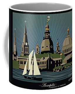 Annapolis Steeples And Cupolas Serenity With Border Coffee Mug