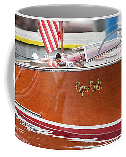 Coffee Mug featuring the photograph Antique Wooden Boat 1305 by Rick Veldman