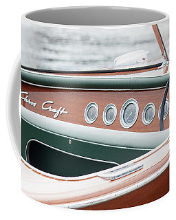 Coffee Mug featuring the photograph Antique Wooden Boat Dashboard 1306 by Rick Veldman