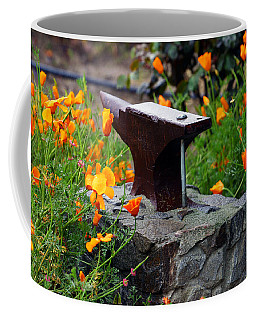 Anvil In The Poppies Coffee Mug