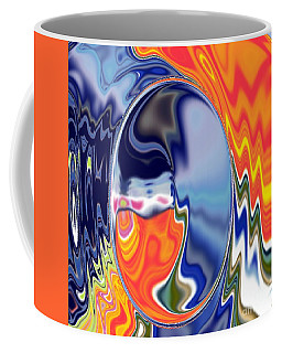 Coffee Mug featuring the digital art  Ooo by A z akaria Mami