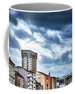 Coffee Mug featuring the photograph Apartment Buildings In Ourense by Eduardo Accorinti