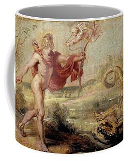 'apollo And The Python', 1636-1637, Flemish School, Oil On Panel, 26,8 Cm X ... Coffee Mug