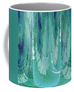 Aqua Abstract Flow Coffee Mug