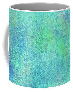 Aqua Batik Print Coordinate Coffee Mug