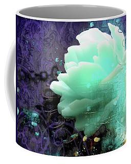 Aqua Rose Fantasy Jewelry Art Coffee Mug