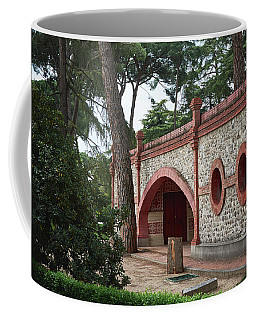 Architecture At The Gardens Of Cecilio Rodriguez In Retiro Park - Madrid, Spain Coffee Mug