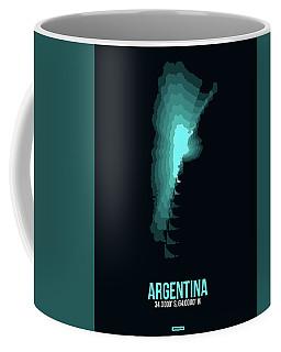 Argentina Radiant Map 1 Coffee Mug