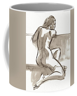 Coffee Mug featuring the painting Ariana by Judith Kunzle