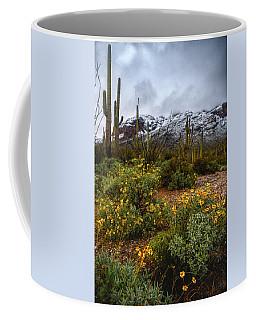 Arizona Flowers And Snow Coffee Mug