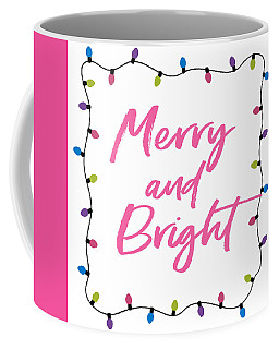 Coffee Mug featuring the digital art Merry And Bright -art By Linda Woods by Linda Woods