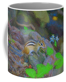 Art Photograph Of Eastern Chipmunk. Coffee Mug