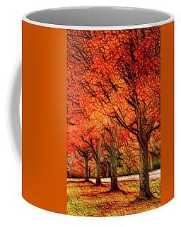 Artistic Four Fall Trees Coffee Mug