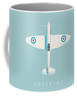 Supermarine Spitfire Fighter Plane - Sky Coffee Mug
