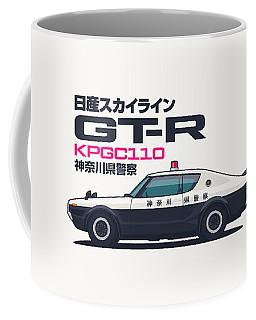 Kpgc110 Gt-r Japan Police Car Coffee Mug