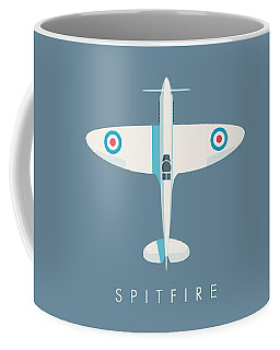 Supermarine Spitfire Wwii Fighter Aircraft - Slate Coffee Mug