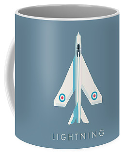 English Electric Lightning Fighter Jet Aircraft - Slate Coffee Mug