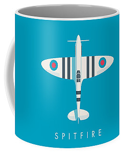 Supermarine Spitfire Fighter Aircraft - Stripe Blue Coffee Mug