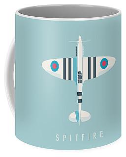 Supermarine Spitfire Fighter Aircraft - Stripe Sky Coffee Mug