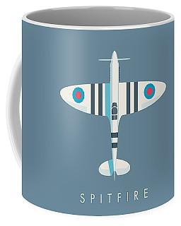 Supermarine Spitfire Fighter Aircraft - Stripe Slate Coffee Mug