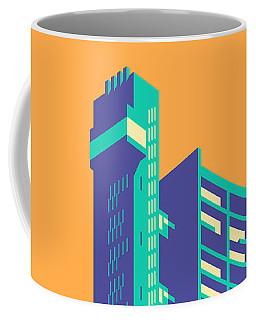 Trellick Tower London Brutalist Architecture - Plain Apricot Coffee Mug