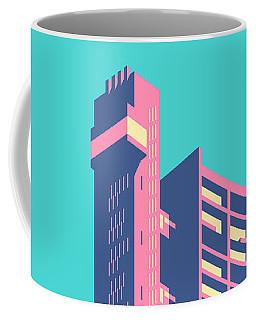Trellick Tower London Brutalist Architecture - Plain Sky Coffee Mug