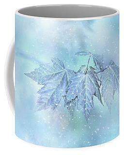 Snowy Baby Leaves Coffee Mug