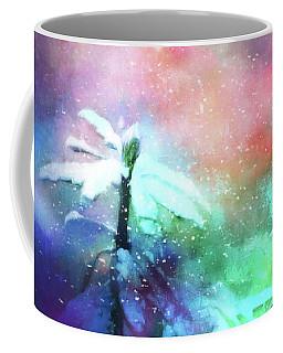 Snowy Winter Abstract Coffee Mug