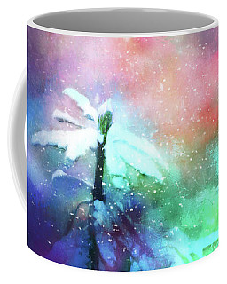 Snowy Winter Abstract Coffee Mug