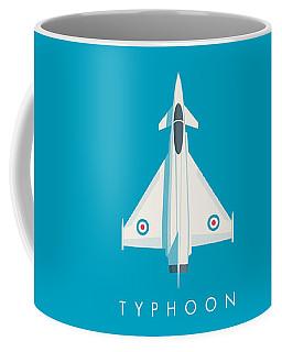 Typhoon Jet Fighter Aircraft - Cyan Coffee Mug