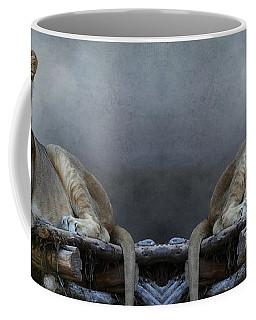 Coffee Mug featuring the photograph Happy Lioness by Debi Dalio