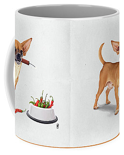 Coffee Mug featuring the digital art Spicy Wordless by Rob Snow