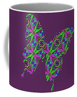 Neon Diamond Pattern Coffee Mug