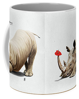 Coffee Mug featuring the digital art Horny by Rob Snow