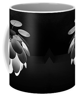 Coffee Mug featuring the photograph Ornamental Ceiling Light Fixture - Grayscale by Debi Dalio