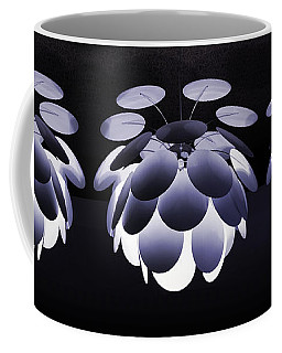 Coffee Mug featuring the photograph Ornamental Ceiling Light Fixture - Blue by Debi Dalio