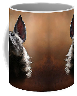 Coffee Mug featuring the photograph Scenting The Air - Striped Hyena by Debi Dalio